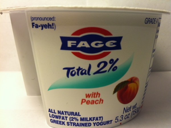 Fage Total 2 Greek Yogurt With Peach Crazy Food
