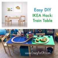 IKEA Hack Train Table  Crazy for D.I.Y.