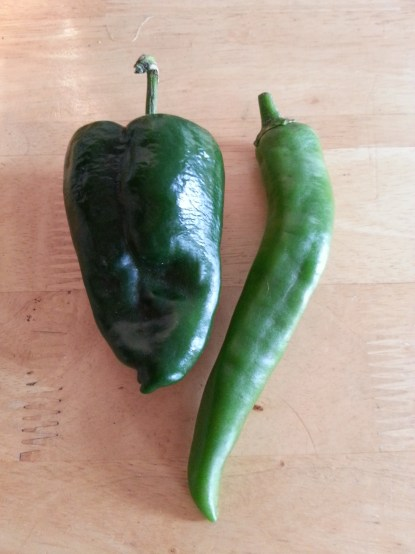Poblano and Anaheim Green Chile Peppers