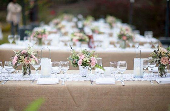 Hochzeitsdeko Tisch Winter