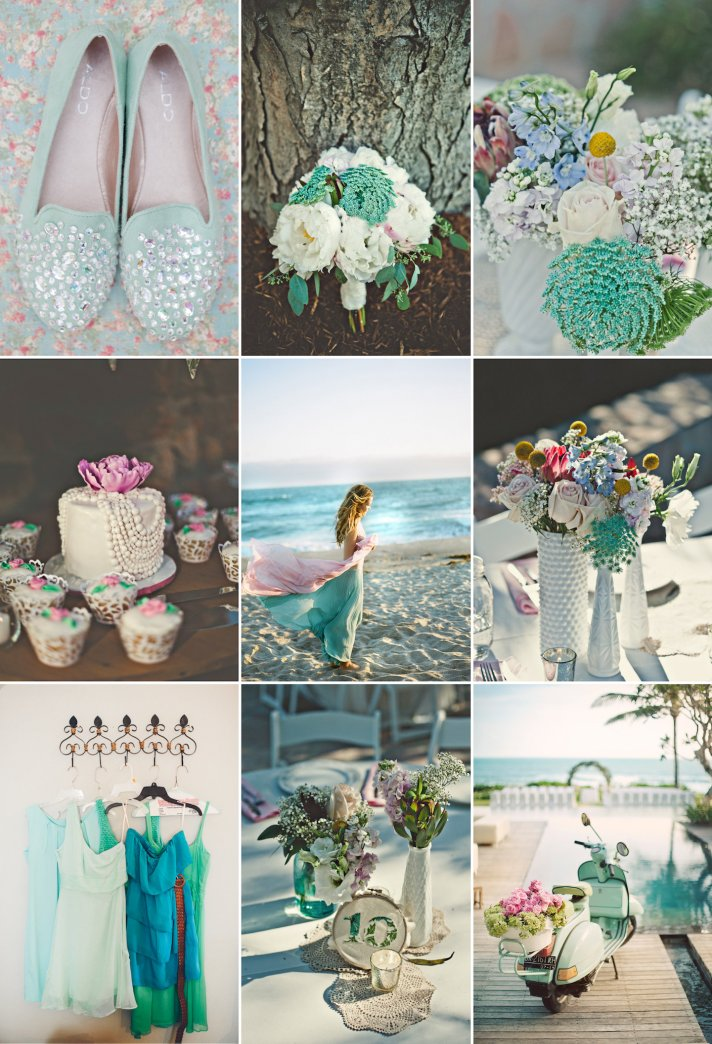 Mint Rose And Turquoise Wedding Color Inspiration