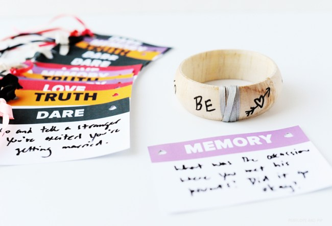 bride-to-be bangle bachelorette party game