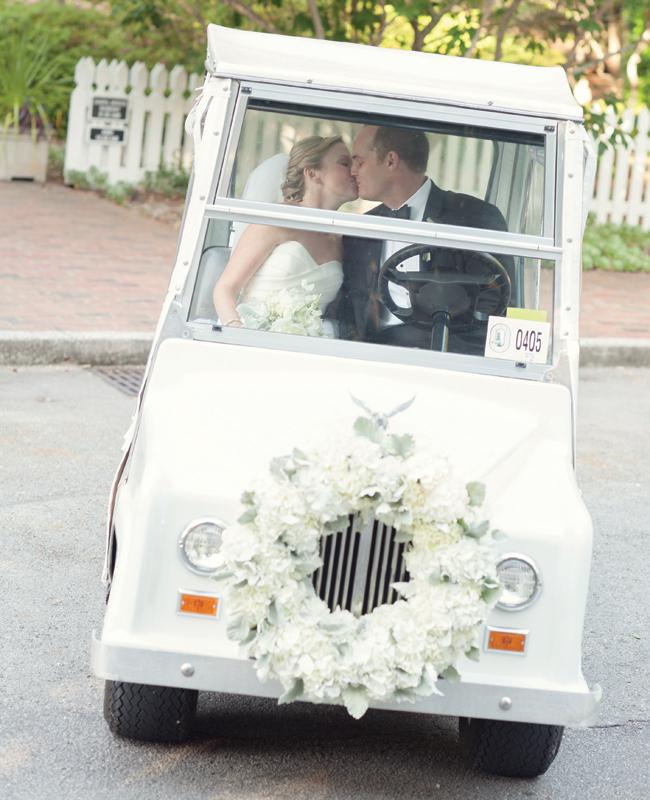 The Wedding Getaway Car - Part I - crazyforus on ford think electric golf cart, burning man golf cart, pink golf cart,
