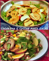Chick Pea and Grilled Apple Salad Collage