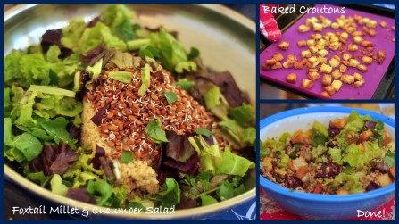 Foxtail Millet and Cucumber Salad Collage