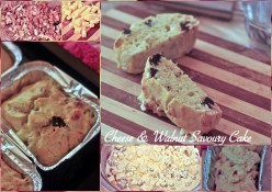 Cheese & Walnut Savoury Cake