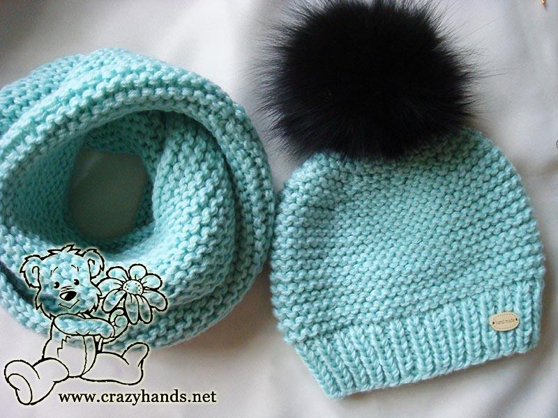 Infinity Knit Scarf Pattern: Ocean Blue Knit Set  Crazy