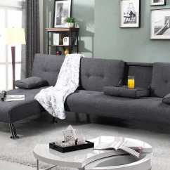 Buy Sofa Bed New York Lazy Boy Sleeper Sectional Grey Upholstered Corner Chaise Crazy House Sale