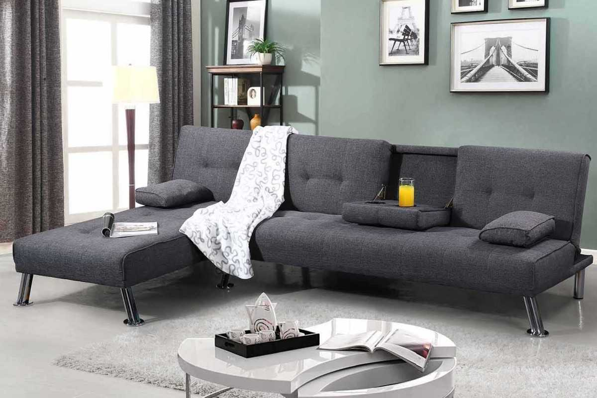 corner sofa bed new york set cleaning in nairobi grey upholstered chaise crazy house sale