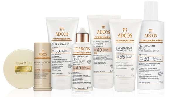 A linha de Fotoproteção Diária da ADCOS foi especialmente desenvolvida para peles brasileiras.