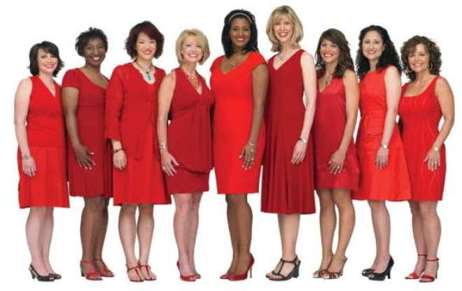 """Campanha mundial """"Go Red For Women"""" revela que mortes de mulheres por doenças cardiovasculares quase dobraram nos últimos 15 anos."""