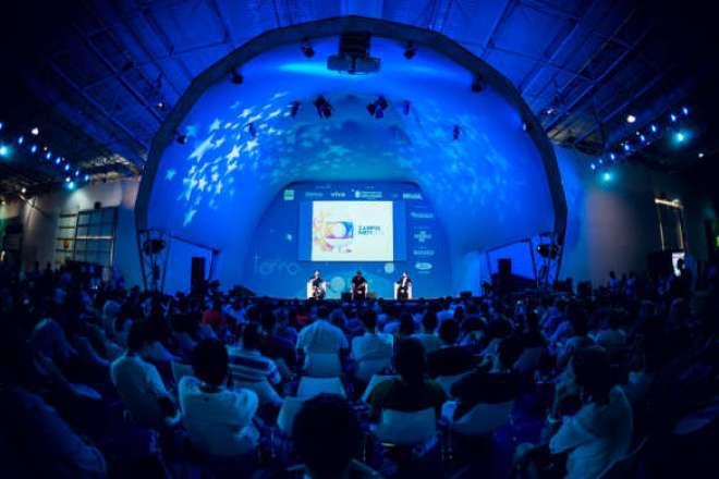 O encontro foi promovido pela Globo e pela GloboNews na  Campus Party.