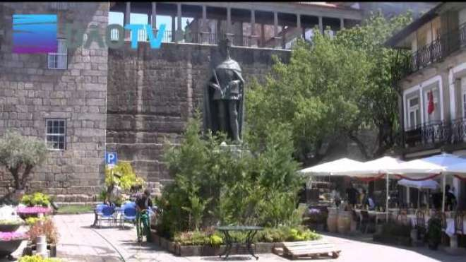 Viseu, cidade do interior-centro de Portugal com cerca de 50 mil habitantes realiza o evento dos mais belos Jardins Efêmeros.