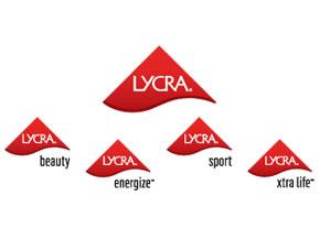LYCRA logo montage