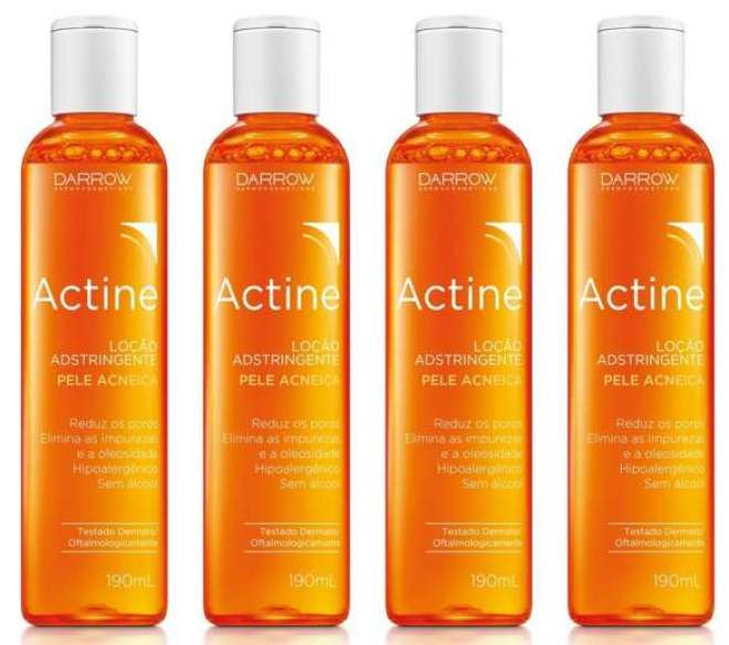 O Actine Loção Adstringente proporciona ação profunda nos poros aliada a uma ação antibrilho sem ressecar a pele.