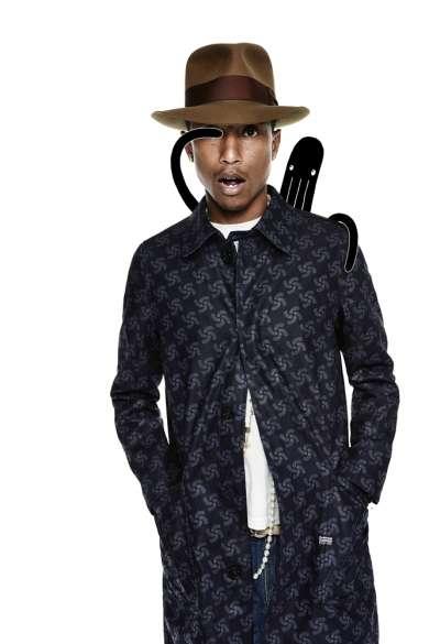 Linha desenvolvida em parceria com Pharrell Williams pode ser encontrada na flagship store da grife.