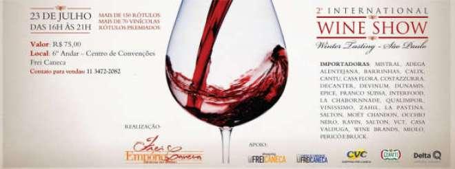 Evento promovido pelo Empório Frei Caneca receberá cerca de 180 rótulos de mais de 70 vinícolas em 30 stands no estilo Winter Walk Around Tasting.