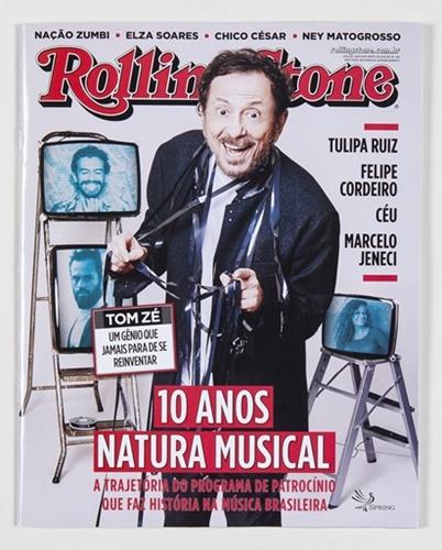"""Capa da A Rolling Stone especial """"10 anos de Natura Musical""""."""