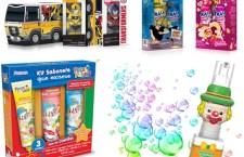 As embalagens das linhas têm designs divertidos e rótulos coloridos que atraem a atenção das crianças, além de tornar a hora do banho um momento de lazer.