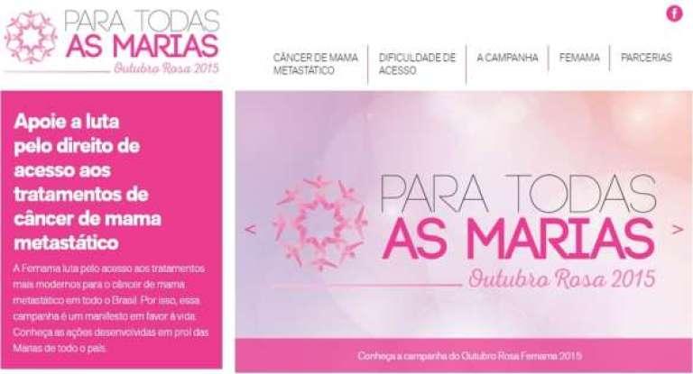 Com a campanha deste ano, a Federação busca reforçar o pedido de acesso ao tratamento adequado para o câncer de mama metastático na rede pública de saúde.