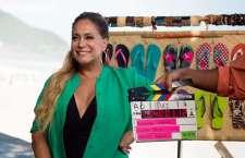 """Brincando com a vaidade da atriz, o comercial """"Adivinho"""", criado pela AlmapBBDO, divulga os novos modelos da coleção de Havaianas."""
