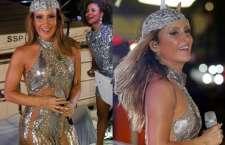 Inspirada na diva Cher, a maquiagem atraiu todas as atenções e fechou o Bloco Largadinho com chave de ouro.(Foto: Ricardo Cardoso/Frame Photos/Divulgação)