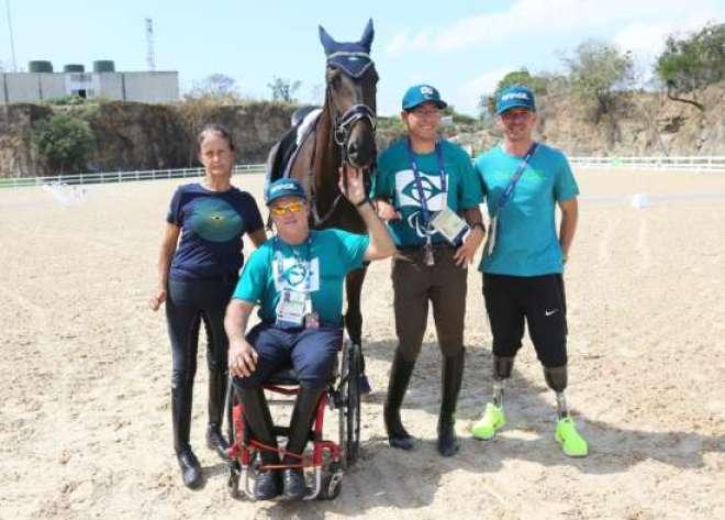 Vera, Joca, Sergio e Rodolpho, equipe do Brasil nos Jogos Paralímpicos Rio 2016  (Cezar Loureiro/MPIX/CPB)