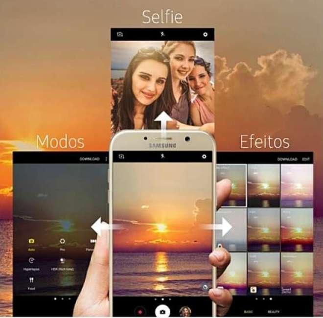 com um simples deslizar de dedos, os consumidores podem ativar recursos que melhoram as cores das imagens selecionando, por exemplo, efeitos e filtros especiais.