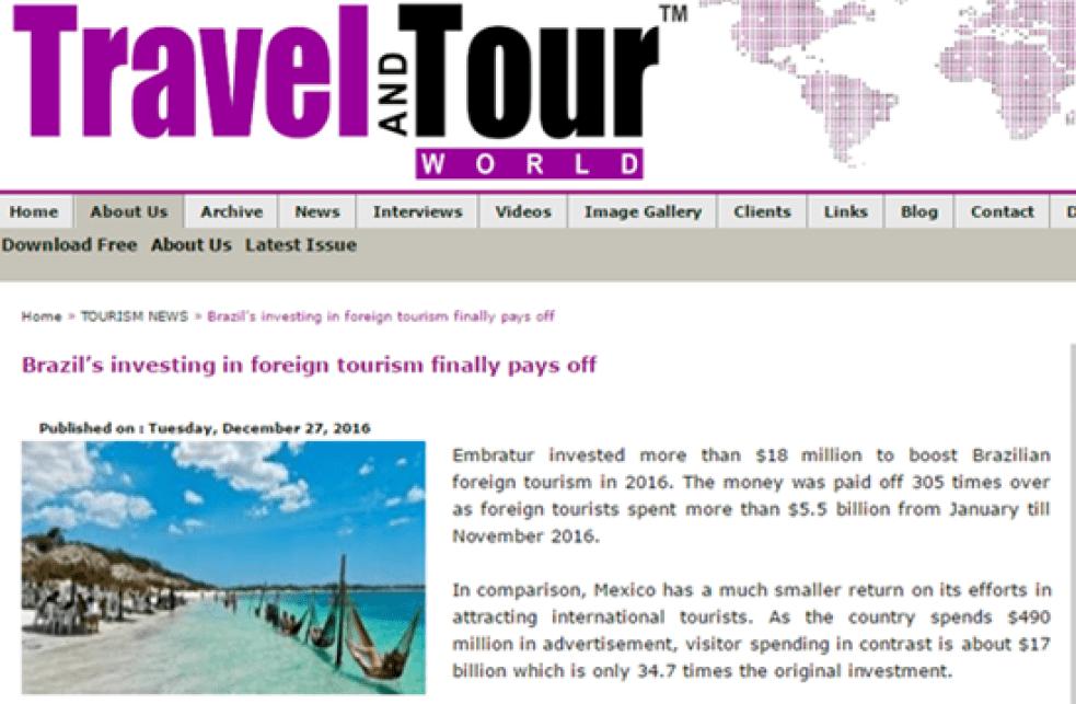 Publicações internacionais estão repercutindo amplamente a campanha de verão da Embratur.