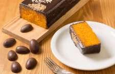 A cafeteria elaborou uma versão de Páscoa para o doce, com decoração especial. A fatia da novidade sai por R$ 11.