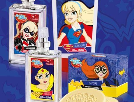 A coleção inspirada na série animada de super-heroínas traz sabonete, loção hidratante e duas colônias femininas.