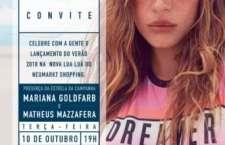 Lua Luá convida Mariana Goldfarb e Matheus Mazzafera para o lançamento do verão 18 em sua nova loja