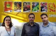 PRONTOS PARA OS NOVOS DESAFIOS. Da esq. para a dir., Andrea Weiss, Vicente Varela e George Mofarej.