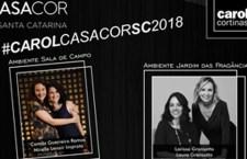 Carol Cortinas comemora participação na casa Cor Florianópolis 2018 com publicidade me painéis de Led