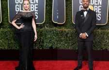 Jessica Chastain e Michael B. Jordan vestem Burberry no Golden Globes