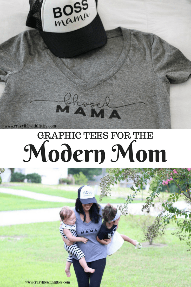 Blessed Mama tee and Boss Mama trucker hats are the trendiest styles for the Modern Mom. Knocked Up Boutique