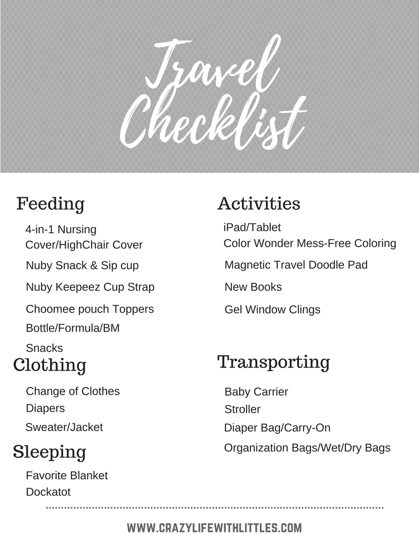 The Ultimate Checklist for Traveling with Babies & Toddlers