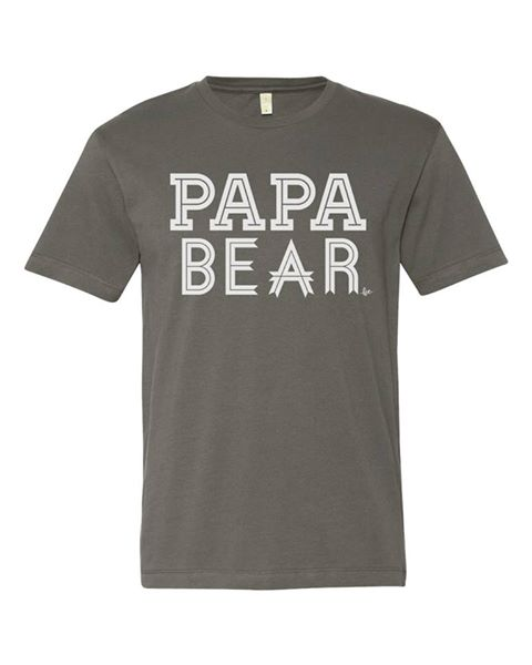 Papa Bear tee, Father's day tee, Father's Day gifts, Loved by Hannah and Eli, Papa Bear, Baby Bear