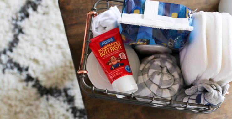 NEW MOM TIPS + DIAPER CHANGING BASKET GIFT