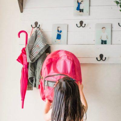 BACK TO SCHOOL: DIY BACKPACK STATION