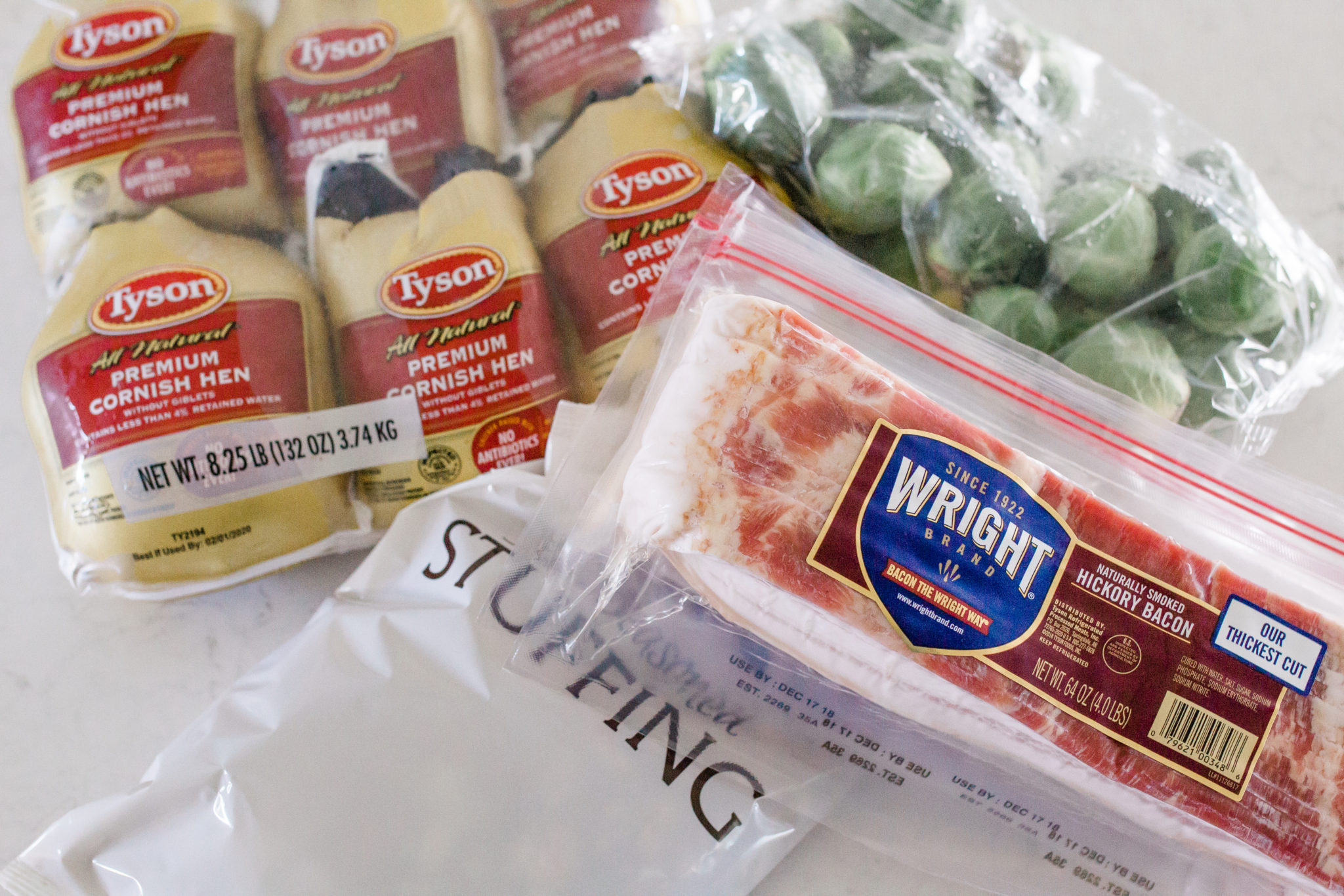 #ad #HolidaysAtSam'sClub prepping for the holidays, ways to prep for the holidays, holiday dinner made easy, roasted garlic brussel sprouts recipe, holiday dinner with cornish hens, how to make cornish hens