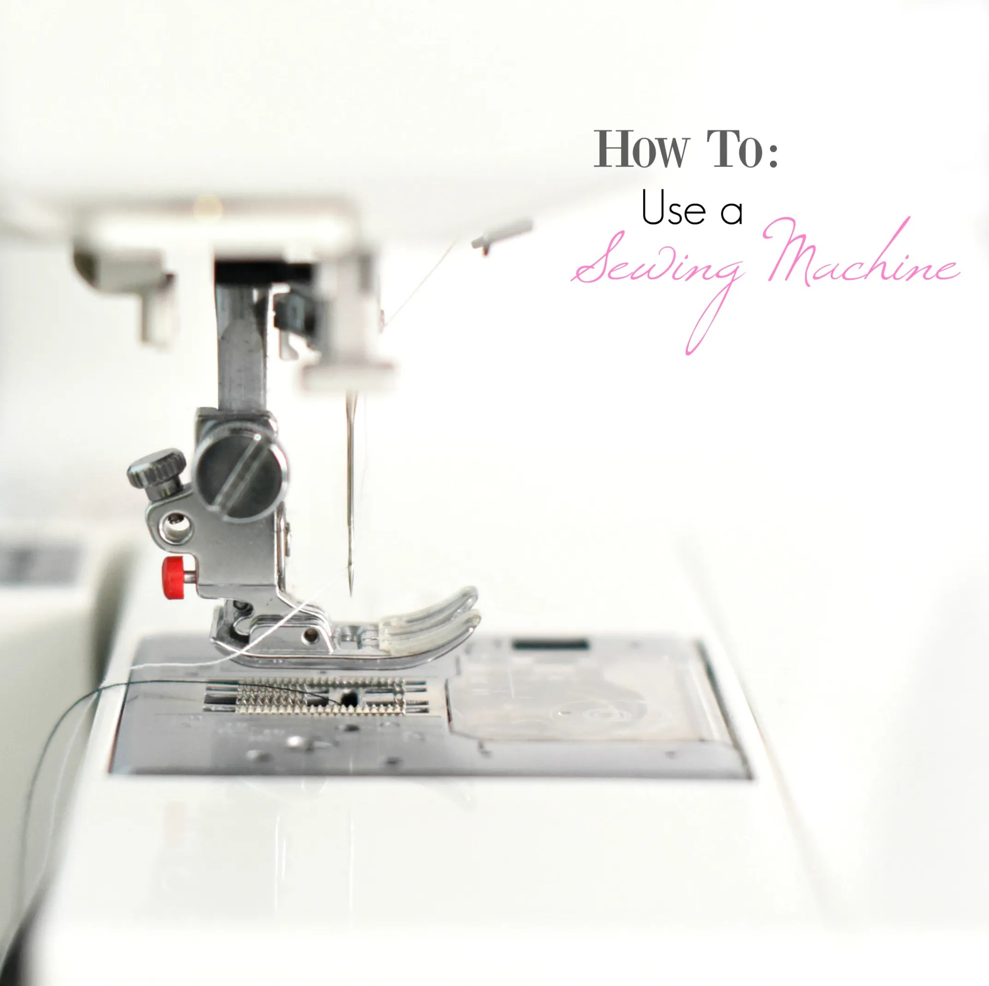 hight resolution of how to use a sewing machine