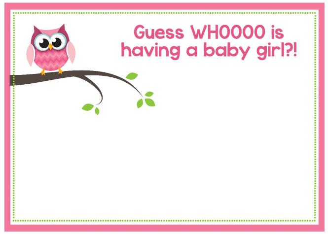 Free Printable Owl Baby Shower