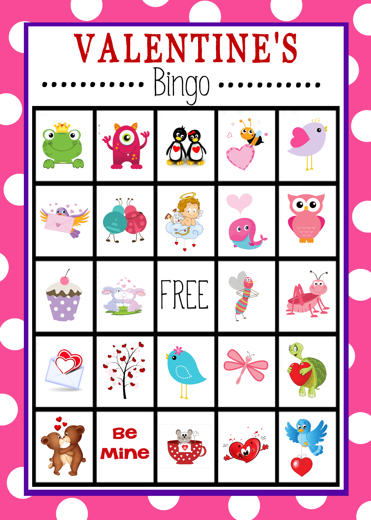 Free Printable Valentine S Day Bingo Game