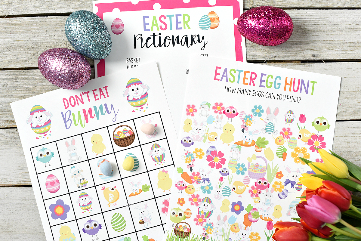 Printable Easter Bingo Game For Kids