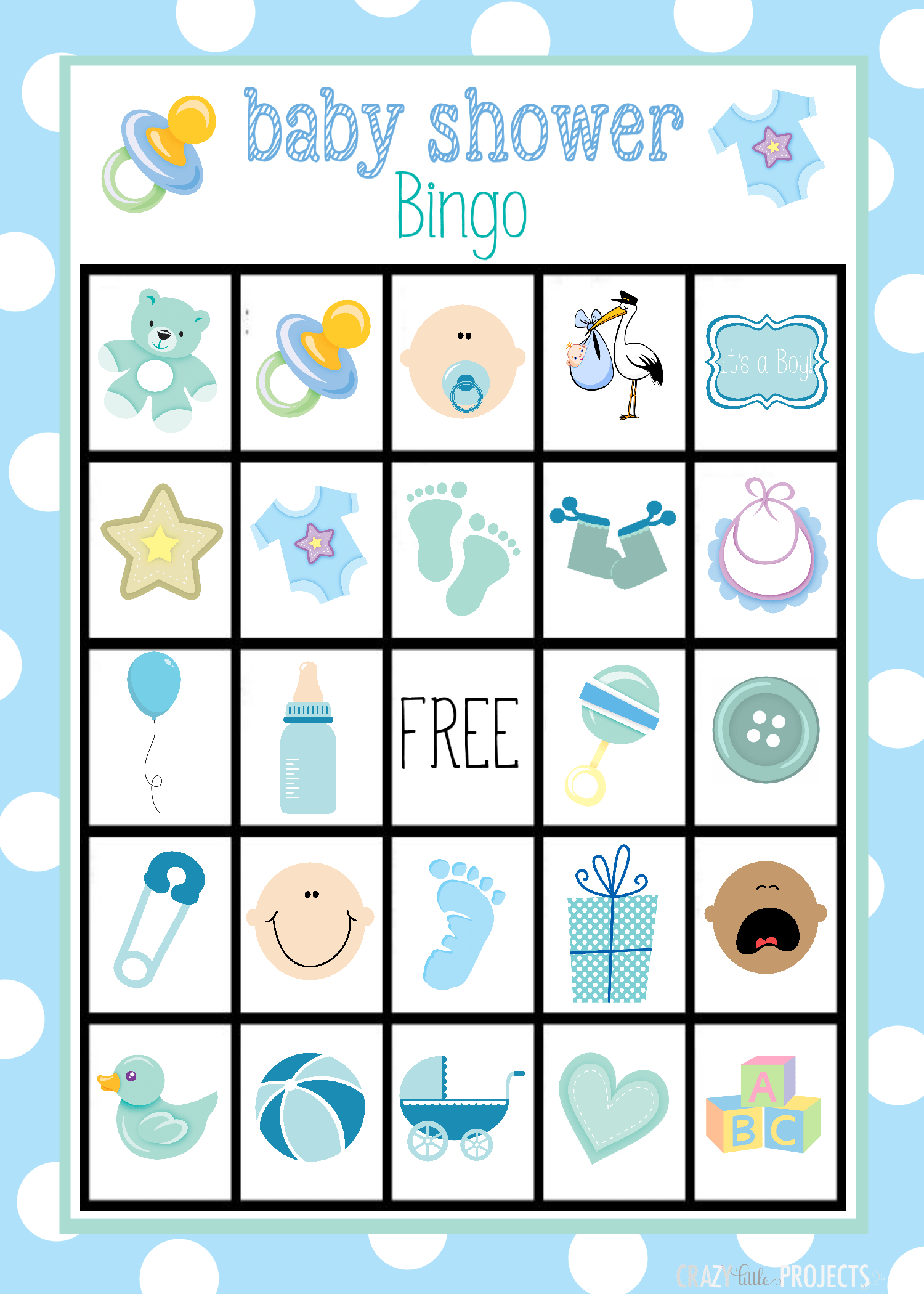 Baby Shower Bingo Cards