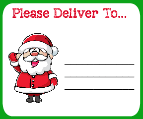 Free Printable Christmas Shipping Labels