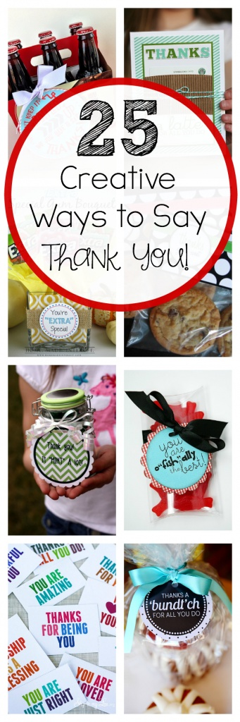 Thank You Gift Ideas Bucket Of Thanks Crazy Little Projects