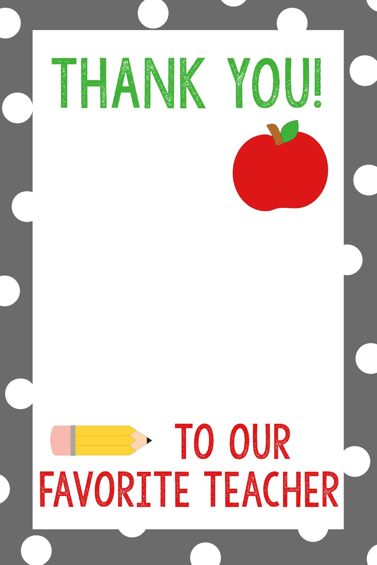 Teacher Appreciation T Card Holders
