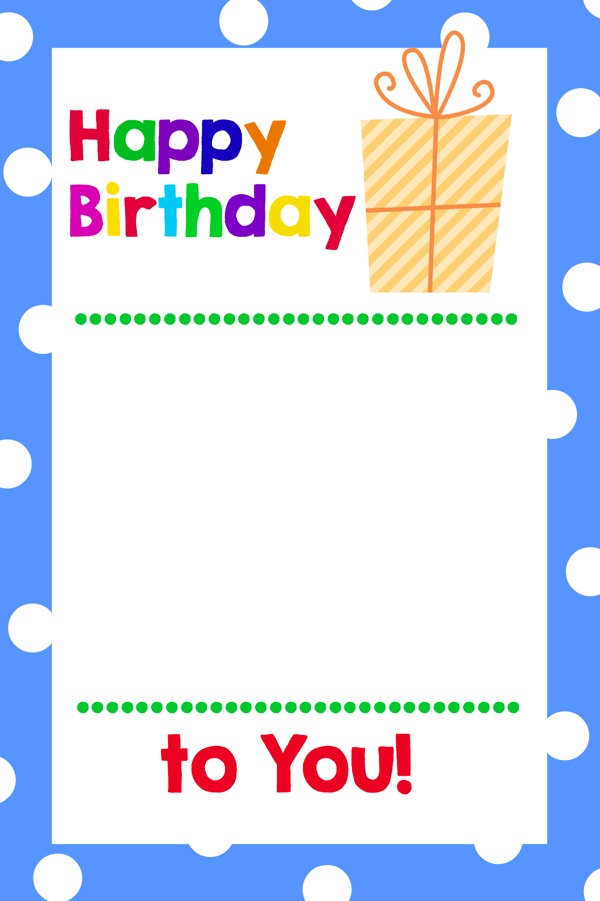 Free Printable Birthday Cards That Hold T Cards